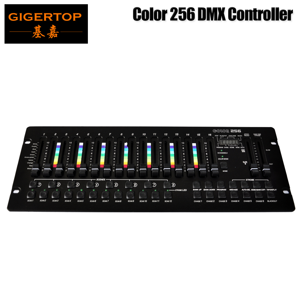 Good Quality Stage Light Color 256 Console 30 Banks 8 Programmable Scenes 16 Slider Lcd Display DC9V Power 3PIN Led lamp