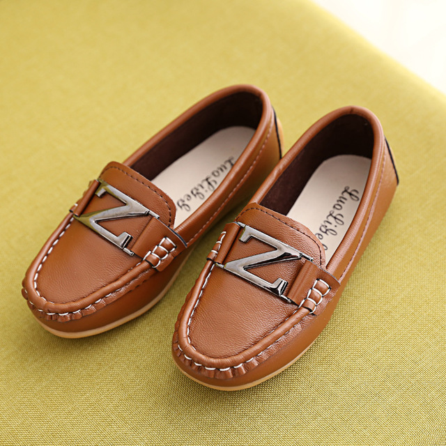 2016 Autumn fashion boy girl weave Z anti-slippery footwear casual wrought-iron leather shoes children's rubber sole shoes 16J21