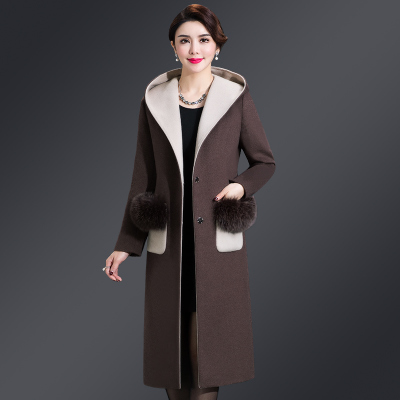 Double-sided coat middle-aged women 2018 new 40-50-year-old mother winter woolen coat