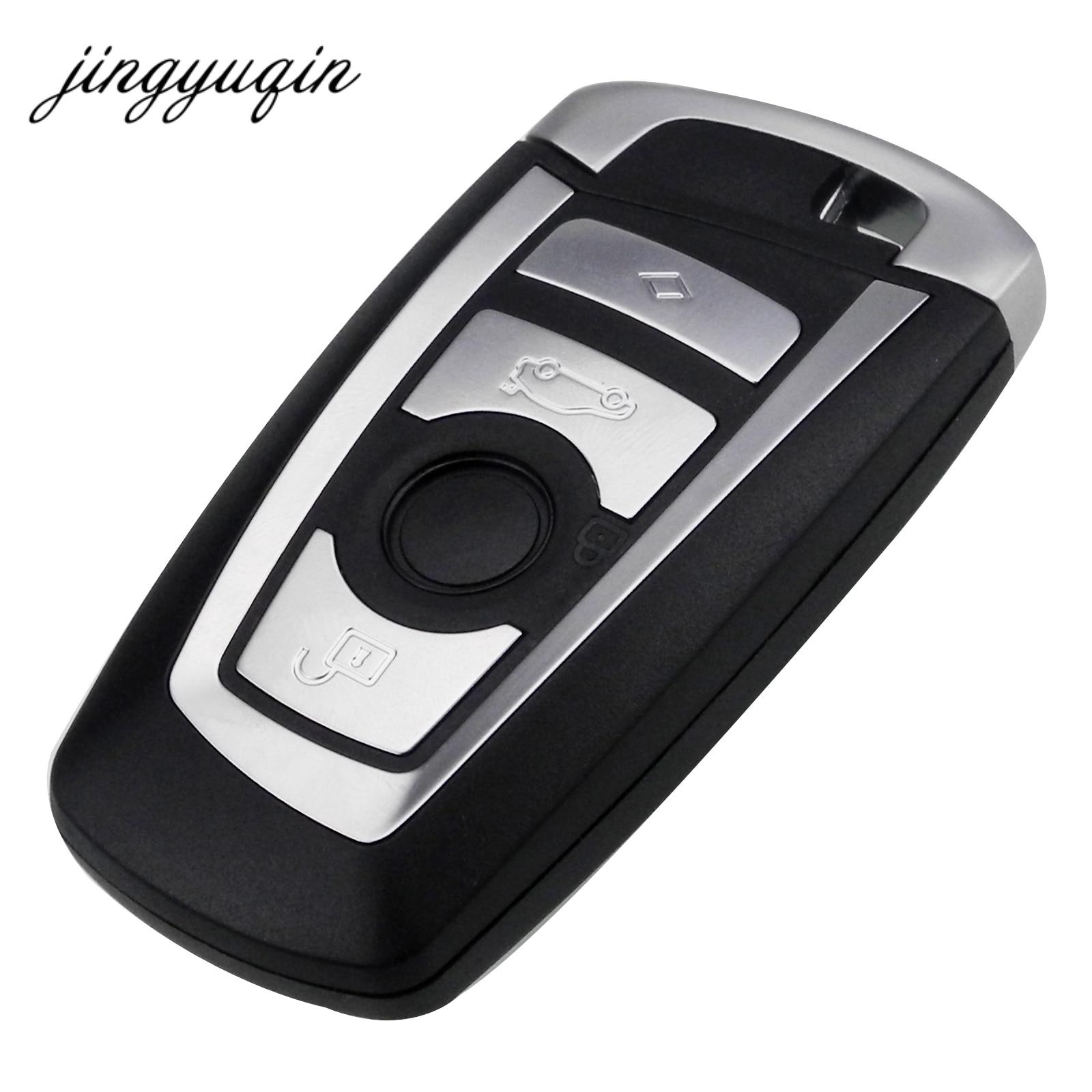 Jinyuqin 4 Boutons Intelligent À Distance Sans Clé Shell pour BMW F CAS4 5 Série 7 Série Smart Key Fob Cas