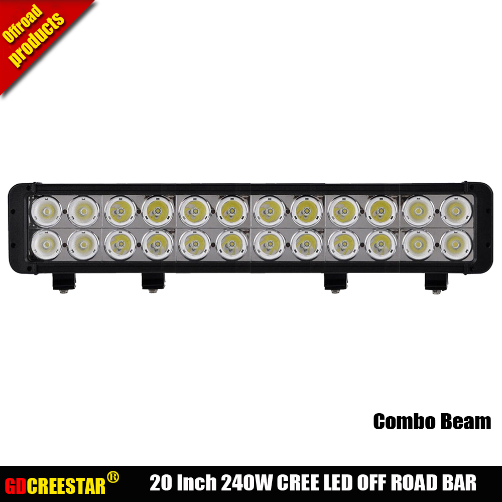 20 Inch LED light bar 240w truck roof off road tractor light bar 24leds High Power 240W Led driving work offroad light bar x1pc