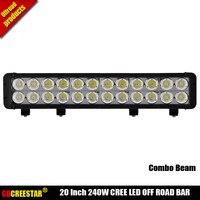 DHL1pcs Lot Free Shipping 20Inch LED Light Bar 240w Truck Roof Off Road Tractor Light Bar