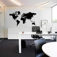Venta caliente Grandes Global World Map Atlas Del Arte Del Vinilo Wallpaper Tatuajes Cara Visual Pattern Home Decor Y-255