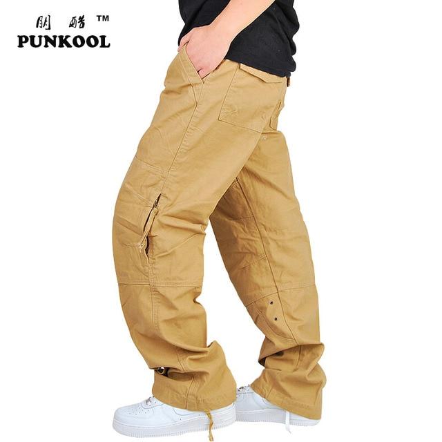 mens cargo pants with zipper pockets - Pi Pants