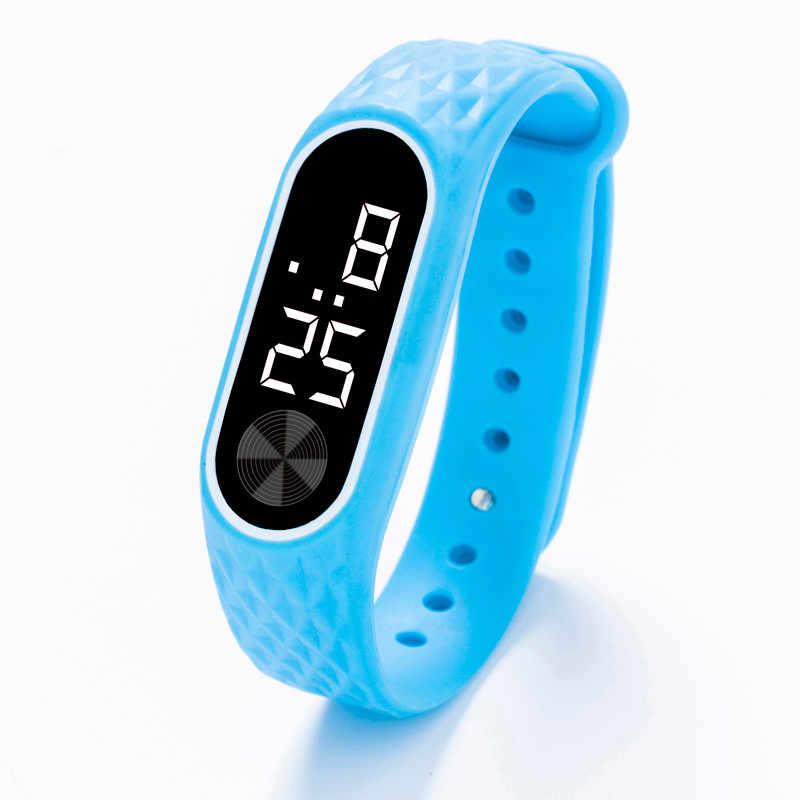 Moda al aire libre Simple deportes rojo LED Digital reloj pulsera hombres mujeres coloridos relojes de silicona niños reloj de pulsera regalo