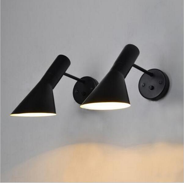 Nordic designer American simple industrial wind LED bedroom living room bedside post modern wall lamp lighting