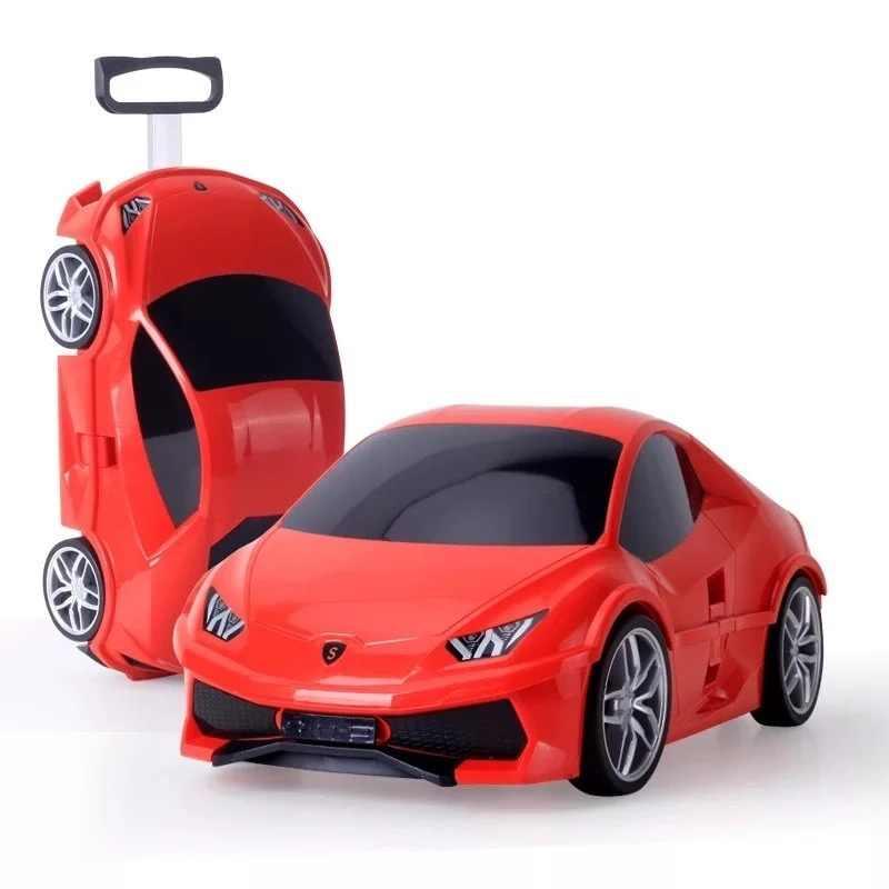 Kinder Koffer Auto Reise Gepäck auf rädern Kinder Reise Trolley Koffer für jungen kinder koffer Roll gepäck koffer geschenk
