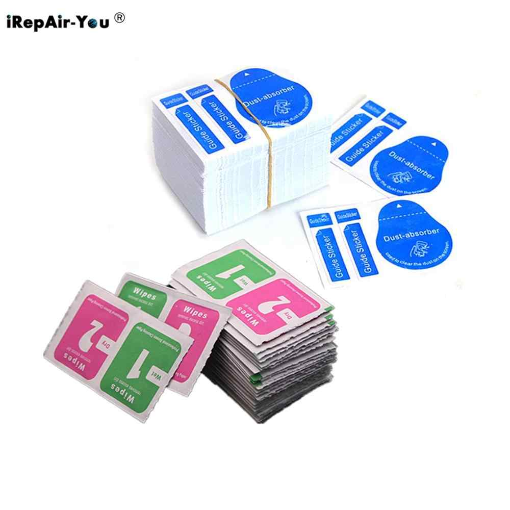 100PCS Wet Dry Cleaning Wipes Removal Paper Dust Absorber Sticker For iPhone X 8 7 6 6s Camera Lens Optical LCD Screen Cleaner