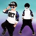 Niños chicos ropa establece adolescente muchachos del juego del deporte del estilo punky 2 unids escuela traje niños ropa chándal 4 ~ 11 años canastilla