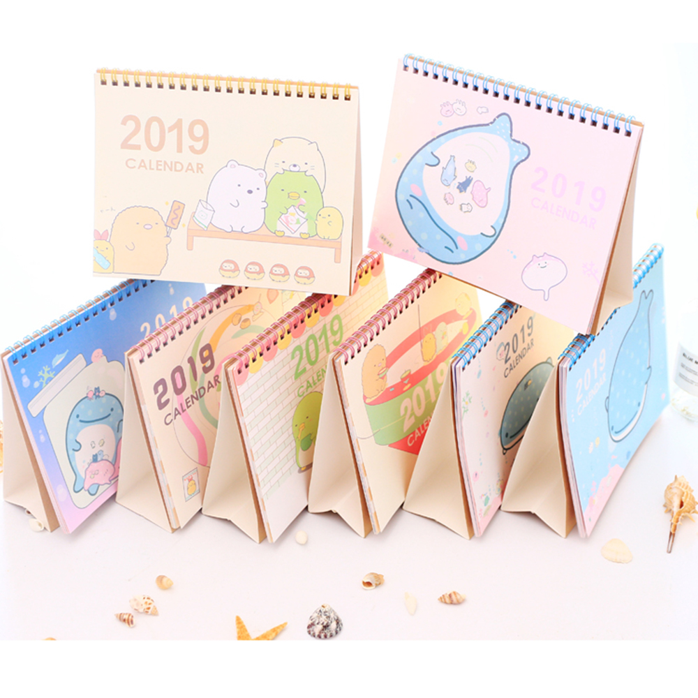 Shop For Cheap 2019 New Cute Cartoon Animal Standing Desk Calendar Desktop To Do List Daily Planner Book Japanese Stationery Calendars, Planners & Cards