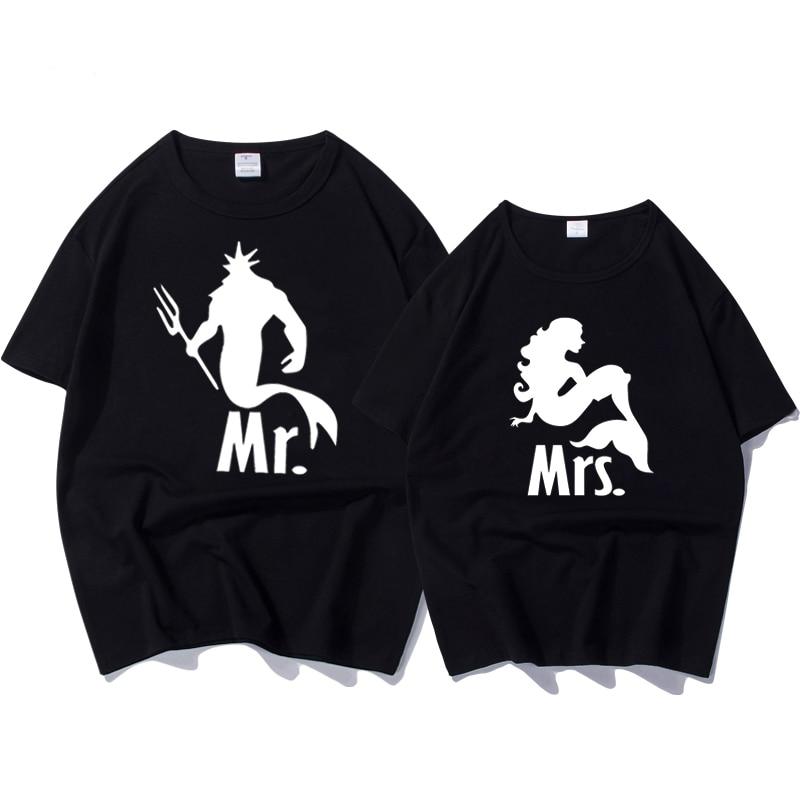 Nyári divat póló ruhák hableány print vicces póló póló - Női ruházat