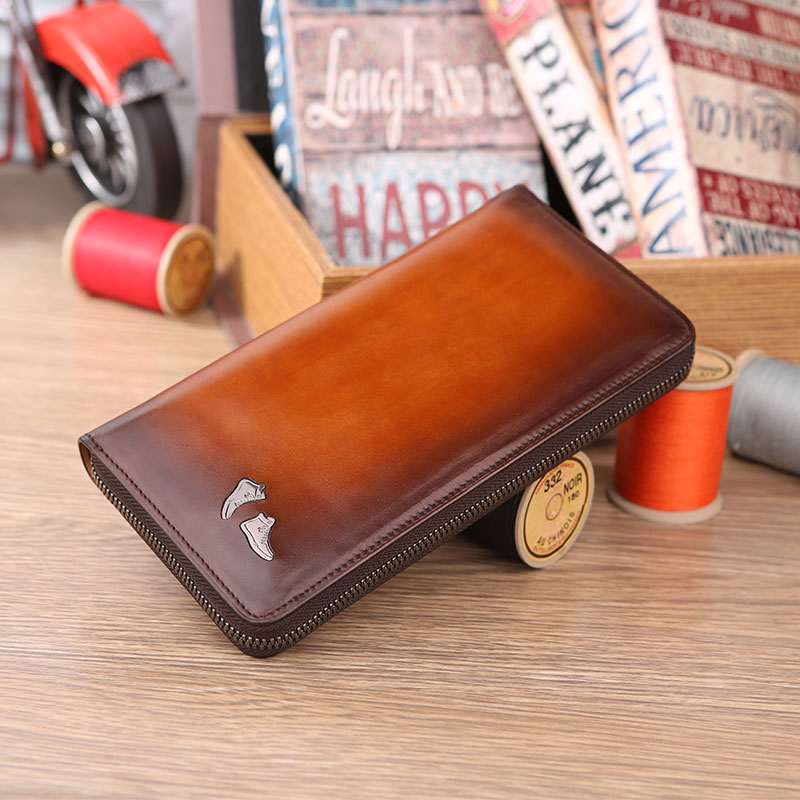 Hot New Genuine Leather Men Wallets Brand High Quality Design Wallets Coin Pocket Purses Gift For Men Card Holder zip Male Purse free shipping new high quality men wallets genuine leather wallet fashion design large capacity men purses wallets card holder