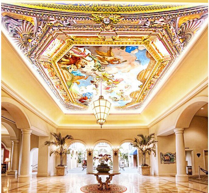 ộ ộ Niestandardowe 3d Fototapety 3d Sufitu Tapety Malowidla Hotelu
