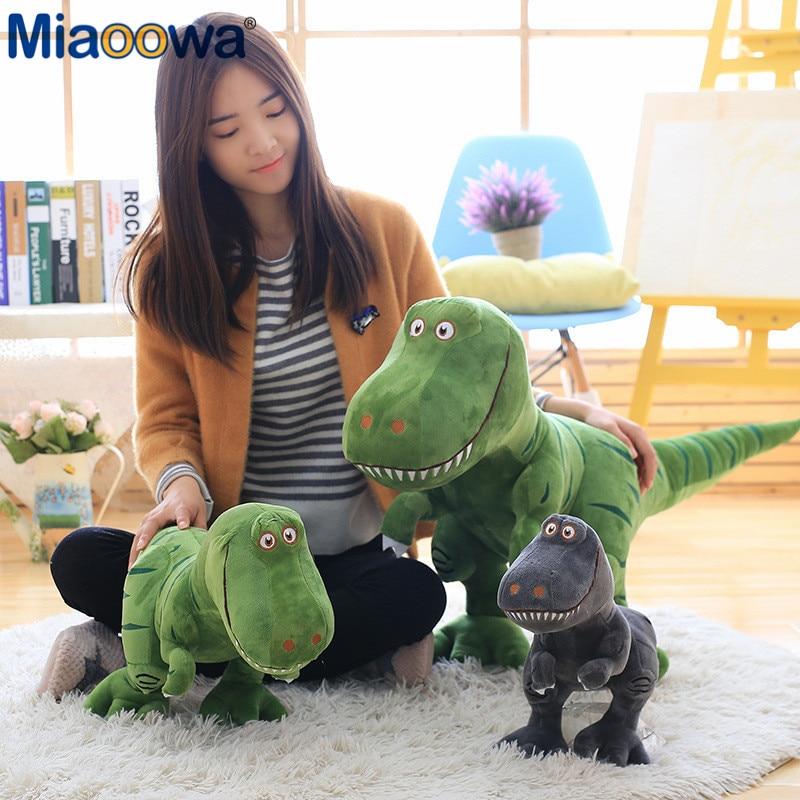 1 шт. 40 см новые плюшевые игрушки динозавра, увлечения мультфильма тираннозавр, мягкая игрушка, куклы для детей, мальчиков, детский день рожд...