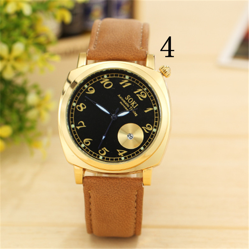 zou's Genuine watch men's automatic mechanical watch ultra-thin leather belt waterproof fashion tide simple men's watch