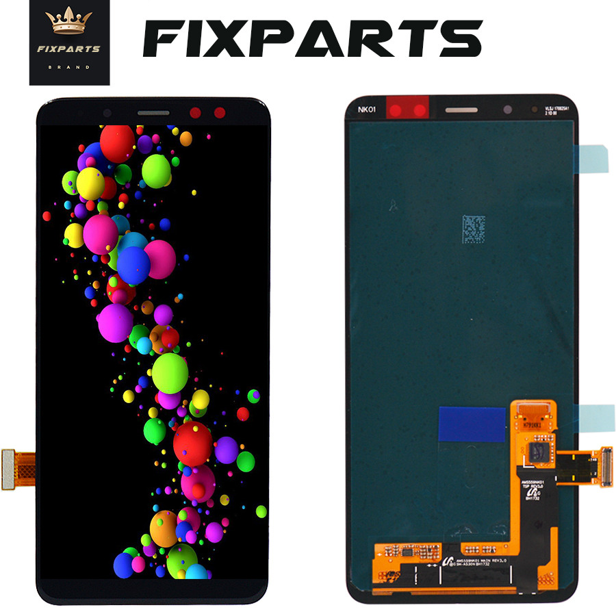 AMOLED <font><b>Screen</b></font> For SAMSUNG GALAXY A8 2018 LCD A530 Display Touch <font><b>Screen</b></font> Digitizer Assembly <font><b>Replacement</b></font> For 5.6