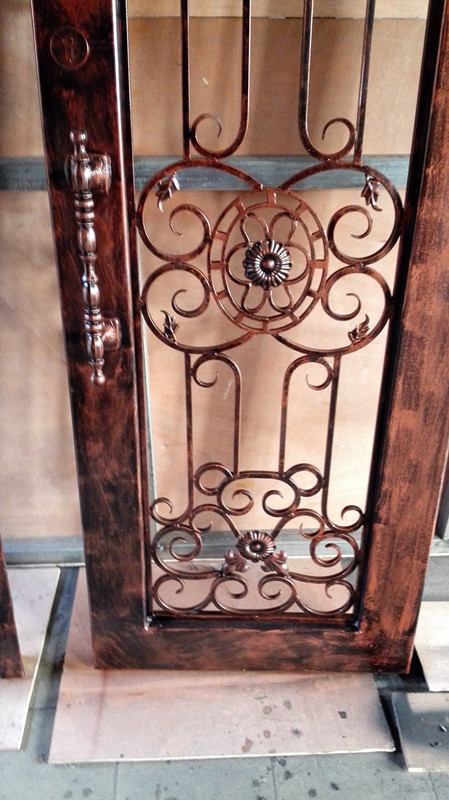 diseo forjado forjado puertas de entrada de hierro puertas de hierro de hierro puertas dobles