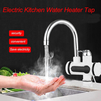 220V Electric Water Heater Electric Kitchen Water Heater Tap Instant Hot Water Faucet Hot And Cold Faucets European Standard
