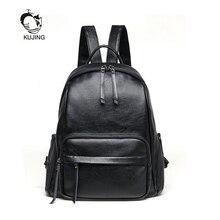 Kujing бренд рюкзак большой Ёмкость женщина Повседневное рюкзак популярные женские путешествия высокое качество рюкзак модные черные женские рюкзак