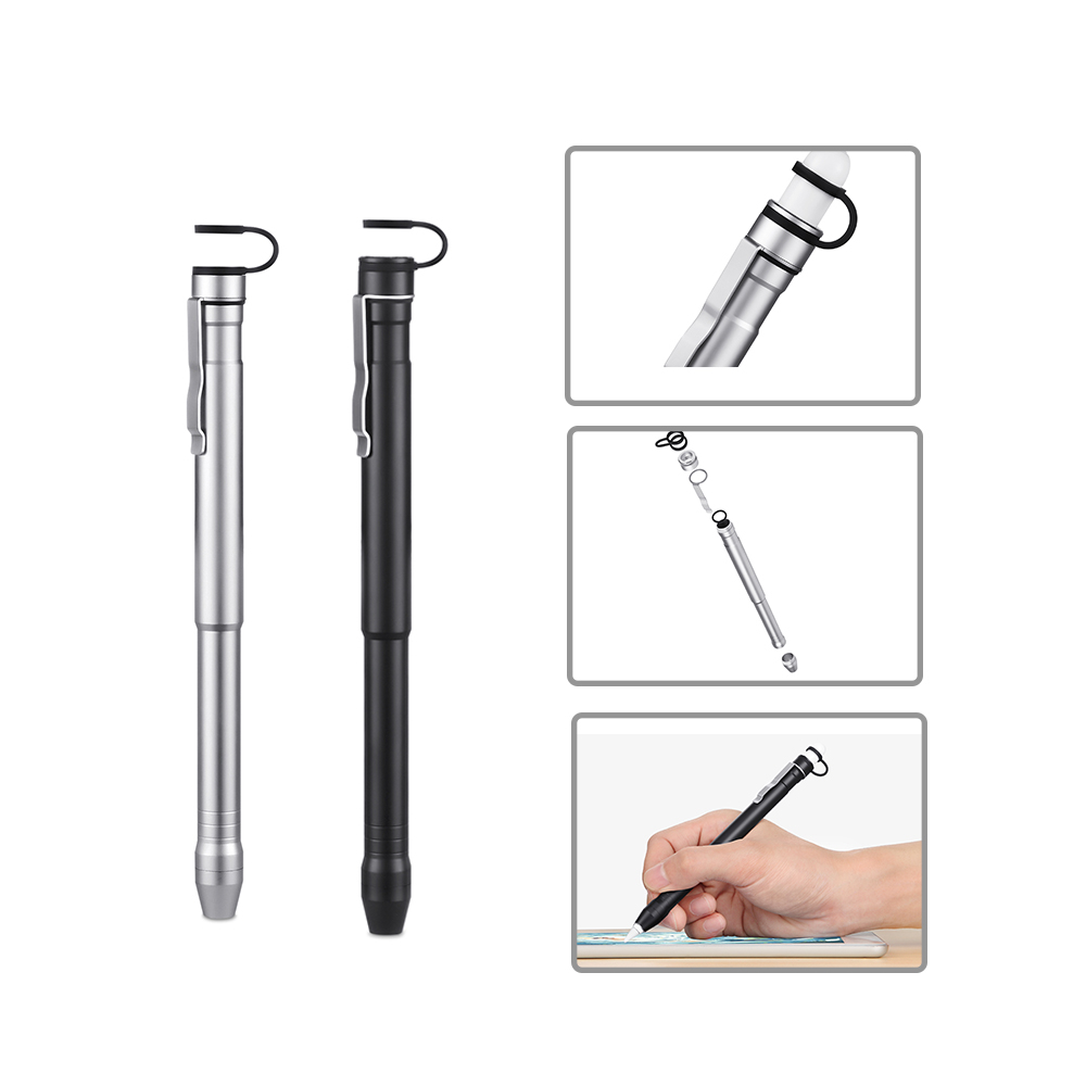 Besegad Aluminum Protective Case Grade Built-in Clip Secures Cap Holder for iPad Pro 12.9 10.5 9.7 Apple Pencil iPencil Gadgets