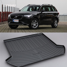 LUCKEASY Non-Slip Waterproof 3D TPO Trunk Boot Cargo Mat Recycled Durable For Volvo XC90 Car-styling