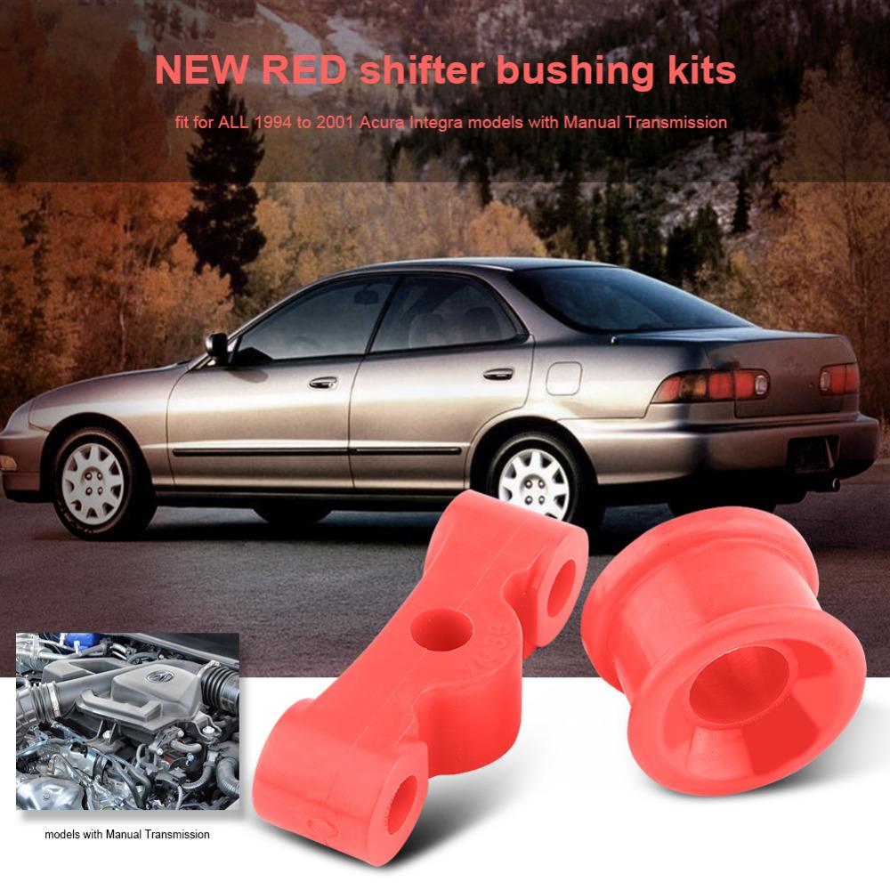 Logo honda rouge - 2 Pcs Rouge Shifter Douille Pour Civic Polyur Thane Car Auto Shifter Douille Kit Pour Honda Civic