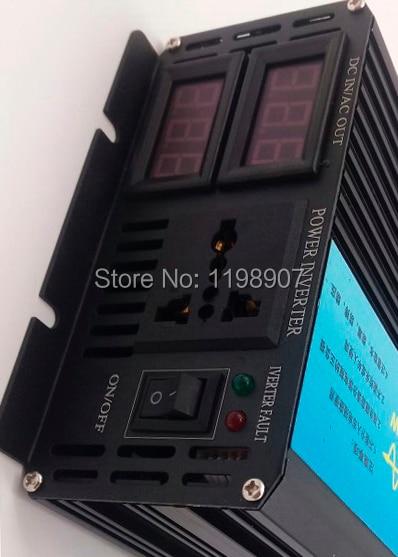 цена на high efficient 2500W DC12v/24v to AC110V/220v pure sine wave power inverter 5000W Peak Power solar inverter