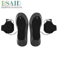 BSAID AA питание от электросети с подогревом Стелька для ног легкие мягкие EVA нагревательные подошвы для мужчин женщин 4,5 в EUR размер 36-46