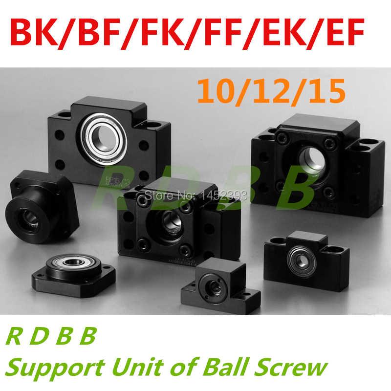 NUOVO BK10 BF10 BK12 BF12 BK15 BF15 FK10 FF10 FK12 FF12 FK15 FF15 EK10 EF10 EK12 EF12 unità di supporto per vite a sfere SFU1605 SFU1204