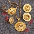 Bangrui Tamanho Grande Etíope Eritreia Etiópia Matagal Jóias de Casamento Set 24 k Banhado A Ouro Africano Noiva