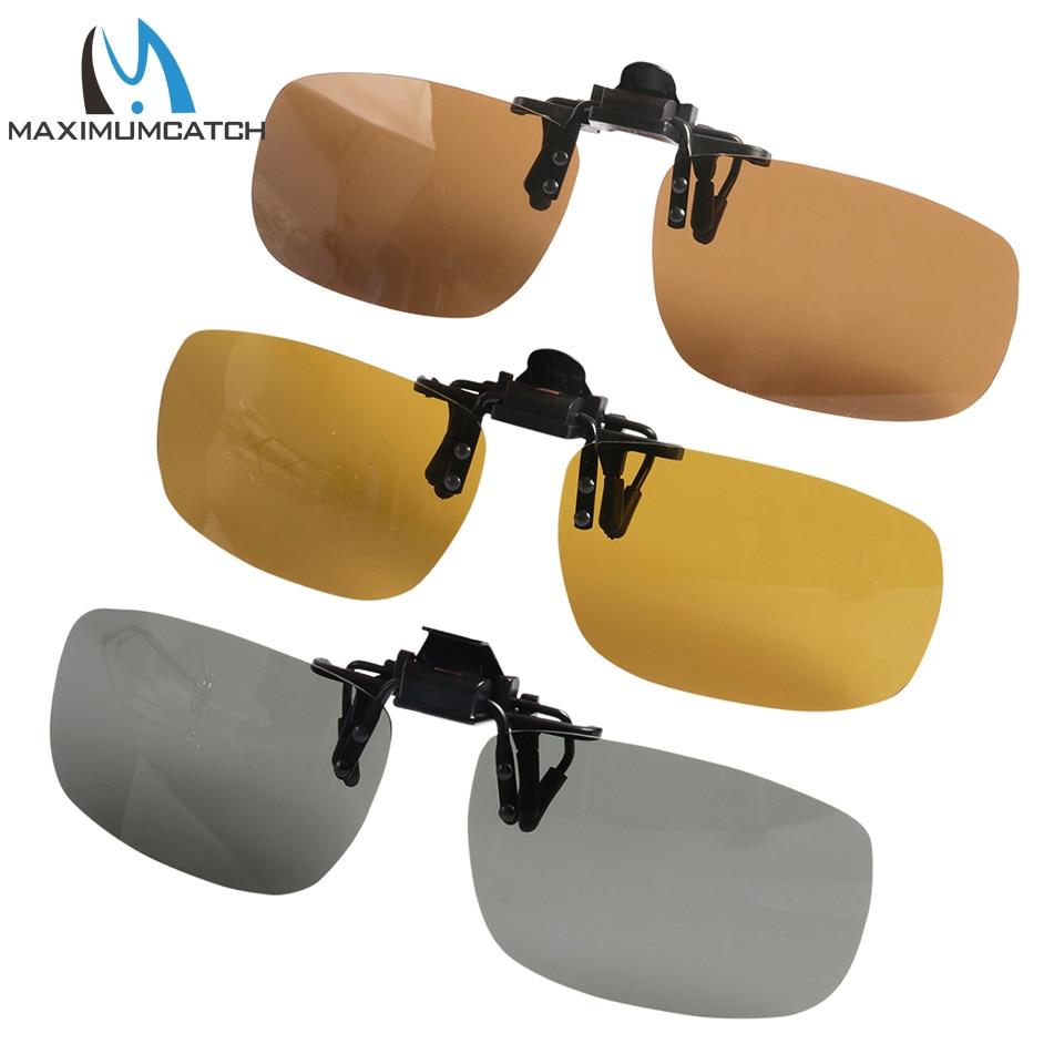 Maximumcatch Super Light Polarized Clip on Sunglasses UV 400 Protection Glare Blocking polarized glare guard tac alloy frame sunglasses with uv400 uv protection