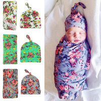 New Baby Blanket Flower Newborn Photography Props Infant Girl Bow Rabbit Headband Hat Cotton Cloth Sets Baby Photography Wraps