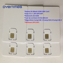 OYEITIMES 2G GSM SIM Card Blank Mobile Phone ICCID IMSI PIN PUK ADM KI COMP128 Algorith Without OP/OPC