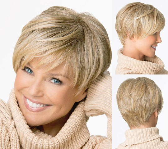 Medusa hair products Beautiful boy cut Short pixie wigs for women Straight s