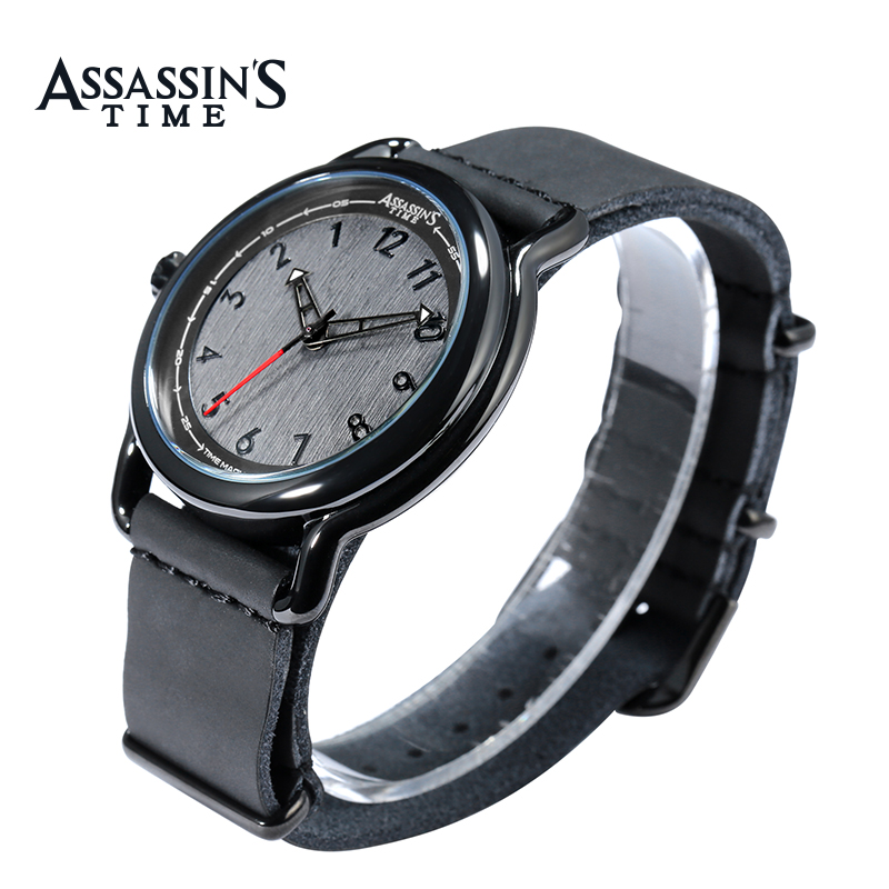 Assassins Time Top Brand Watch Män Quartz Watch Luxury Black Äkta - Herrklockor - Foto 3
