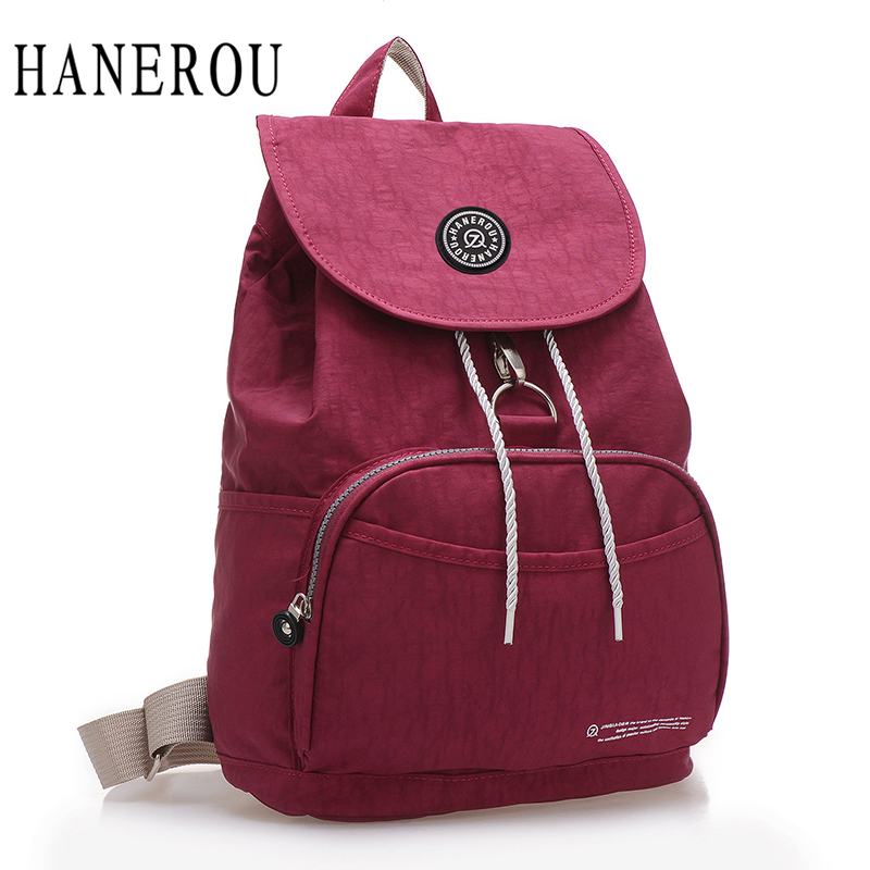 Preppy Style Women Backpack Waterproof Nylon Backpack 10 Colors Lady Women's Backpacks Female Casual Travel Bag Mochila Feminina #2
