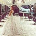 2017 Wedding Dresses Hot Sale Sweetangel Lace Ball Gown Handmade Flowers Bridal Dress Vintage Cathedral Train Vestido De Novia