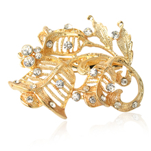 Christmas Gift Fashion Alloy Sterling silver  Brooch Flower Crystal Jewelry Rhinestone Brooch Women Brooch For Wedding стоимость