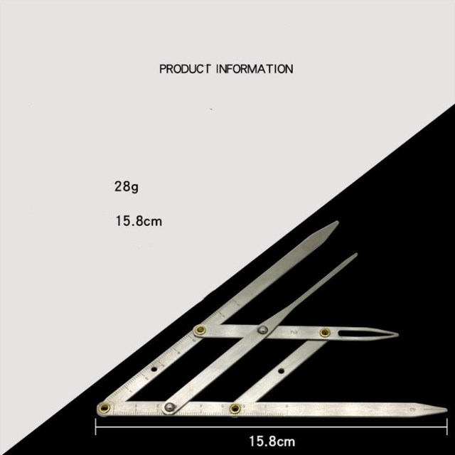 Golden Ratio Measure Microblading Stainless Steel Ruler Permanent Makeup Eyebrow Tattoo Design Calipers Stencil 1