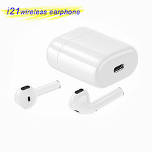 I21 TWS Wireless Earbuds Touch Bluetooth Headset With Microphone Handsfree Sports Gaming Ear Buds For Huawei Xiaomi Iphone Phone(China)