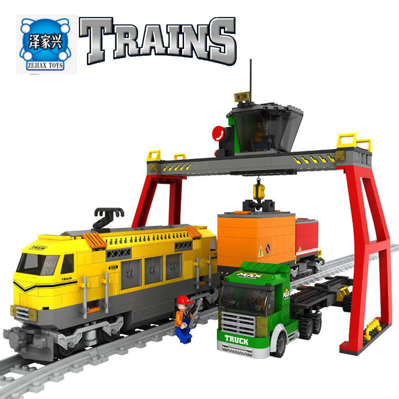 Model Building Kits Compatible with Lepins City Trains Rails Traffic 668 3D Blocks Educational Model Building Bricks Figures Toy qunlong toys compatible legos minecraft city model building blocks diy my world action figures bricks educational boy girl toy