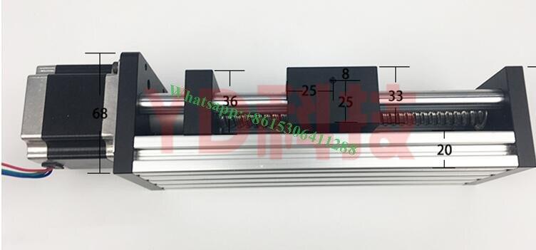 Haute précision GGP 200MM vis à billes 1204 1605 1610 glissière Rail Guide linéaire Table mobile + 1 pièces Nema 23 moteur 57 moteur pas à pas - 2