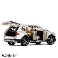 Brand New YJ 1 32 Scale Car Model Toys Germany Volkswagen Tiguan L SUV Sound Light