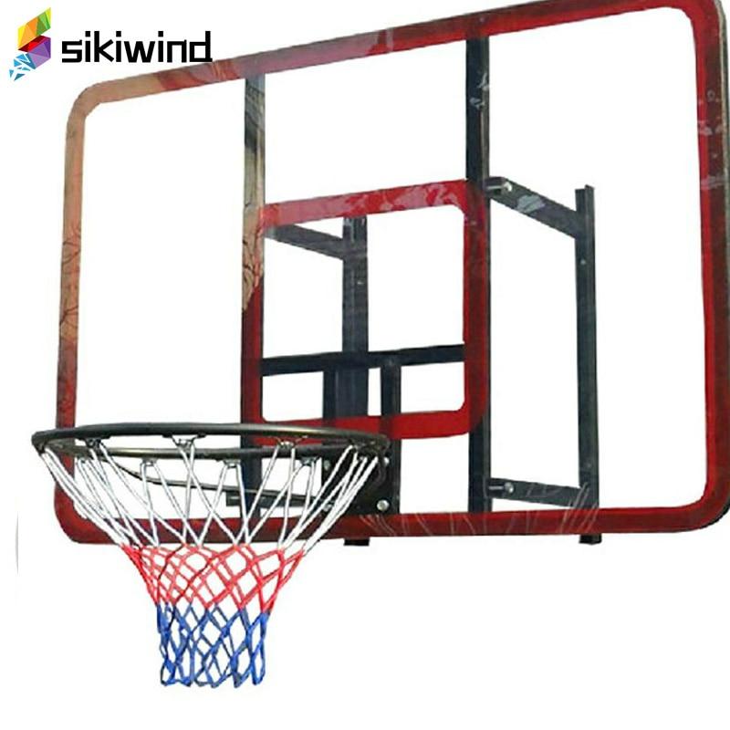 Office & School Supplies Helpful White-red Lattice Cord Basketball Sports Ball Mesh Net Ball Soccer Net Bag Portable Equipment Net Bag Long Performance Life