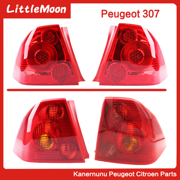 Taillight shell Rear lamp housing for Peugeot 307 sedan left and right rear lights Old 307 rear taillights Rear lights New 307