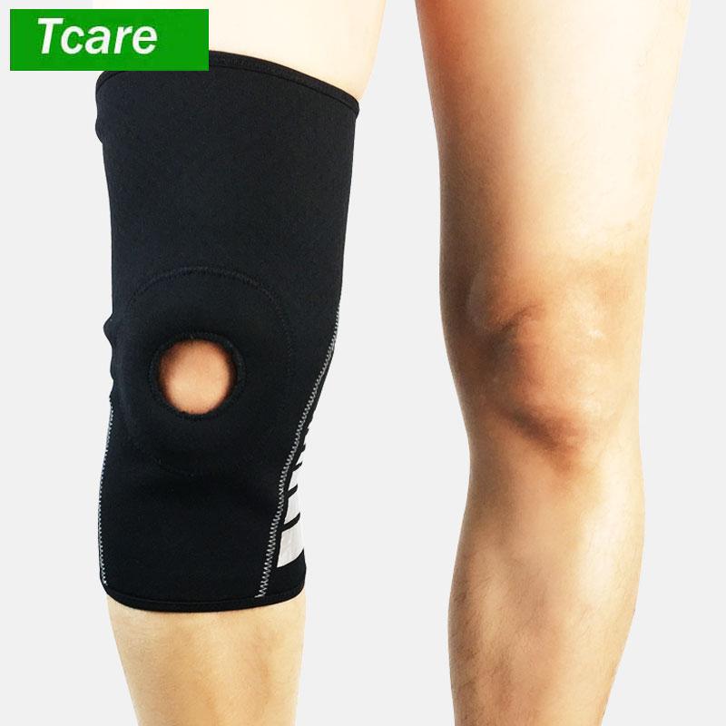1 шт. колено рукавом легкий Водонепроницаемый неопрен Поддержка с массажем силиконовые скобки для купания, бег, баскетбол, футбол