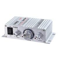 Original LP - A6 Mini Hi-Fi Stereo Super Bass Audio Amplifier Support FM Function 12v Power Amplifier 2-channel Output 20W