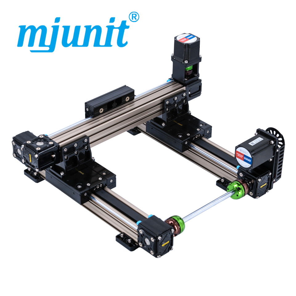 mjunit MJ50 xy axis with 200x200mm Stroke Length Linear Actuator Linear Guide Rail Linear Motion Flat