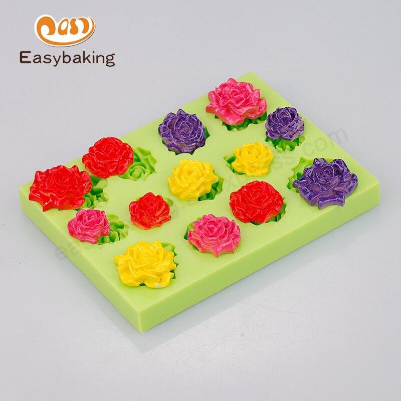 Multi Hole Rose Peony Voor Cupcake Siliconen Fondant Mallen Craft - Keuken, eetkamer en bar