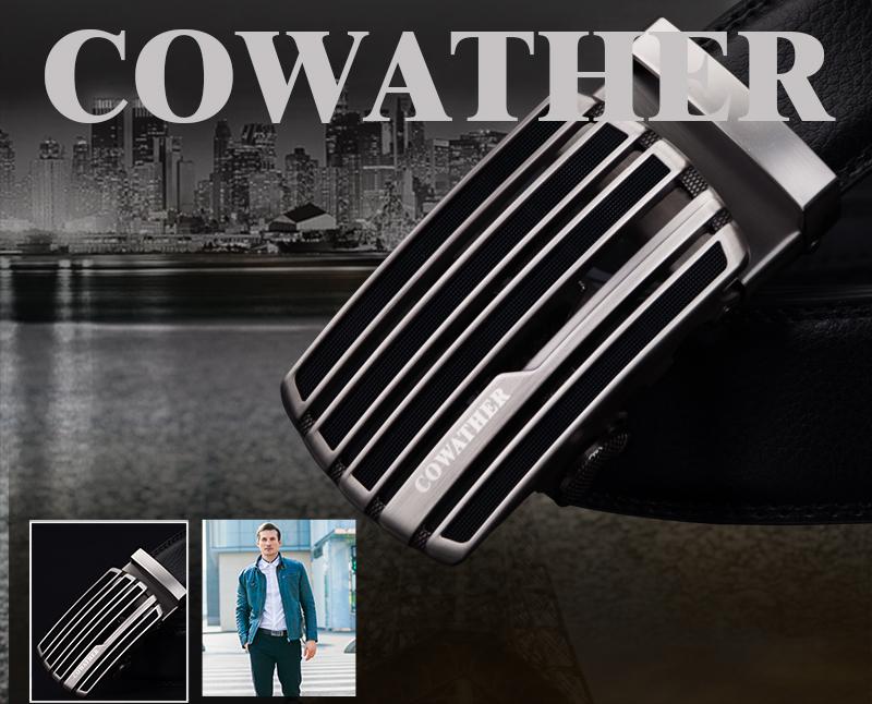 حزام COWATHER جلد طبيعي للرجال ذو جودة عالية 1